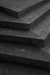 Staircase stone floor, monotone style black and white photo.