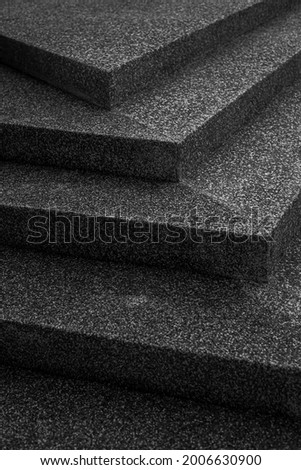 Staircase stone floor, monotone style black and white photo. Foto stock ©