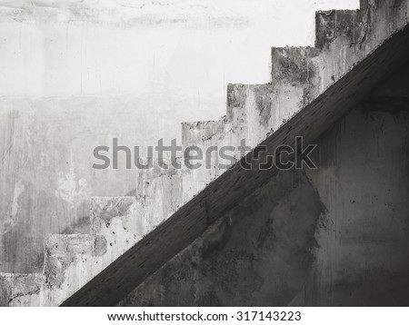 Stairs Architecture details building Black and White #317143223