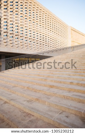 Stairs beside the new Parliament building of Malta designed by Renzo Piano. #1305230212