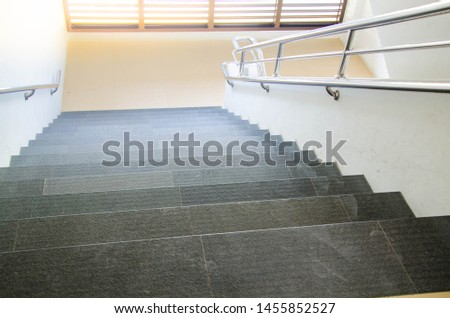 Stairs, building stairs, a part of stairs in the building.