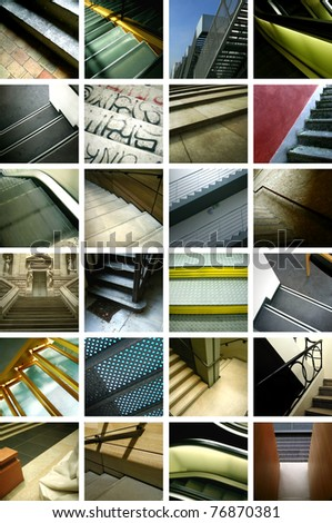 Stairs collage