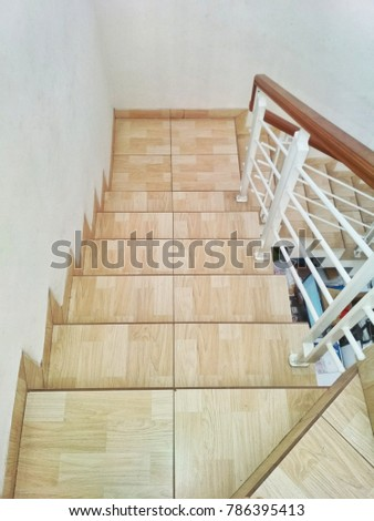 Stairs design with iron handle - Shutterstock ID 786395413