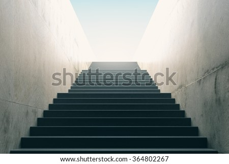 Stairs from underground upward