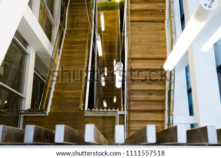 Stairs in a modern house #1111557518