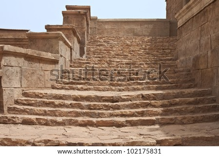 Stairs in a movie stage in Ouarzazate, Morocco