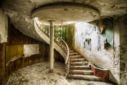 Stairs in an abandoned house in Italy