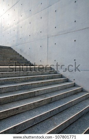 Stairs in front of a wall #107801771
