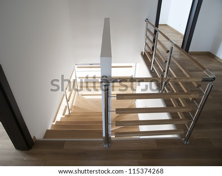 Stairs in modern house