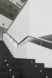 Stairs in modern office interior, construction