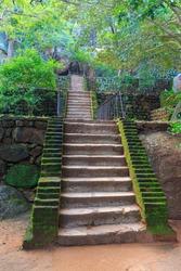Stairs in old Sigiriya Castle, SriLanka