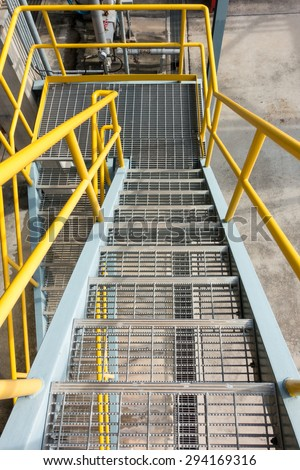 Stairs in petrochemical plant