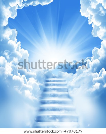 stock photo : stairs in sky