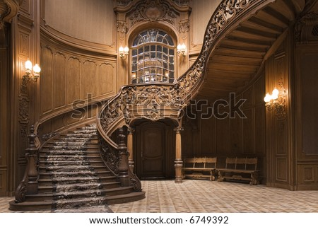 Stairs in the Lvov ancient casino