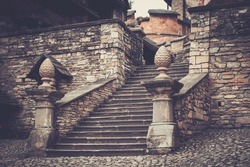 Stairs inOld Orava castle in Slovakia