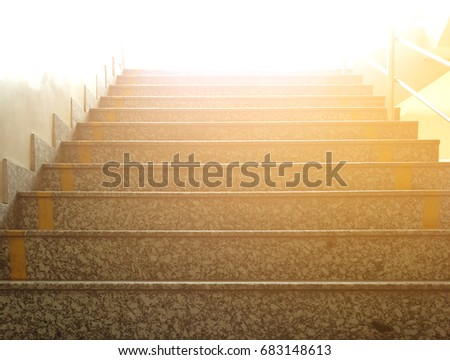 Stairs leading to bright open light, stairway to heaven