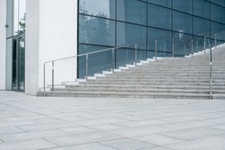 stairs of modern office building