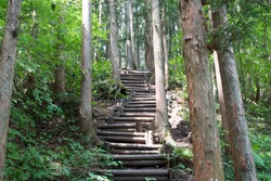 Stairs of mountain road