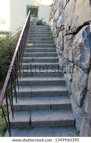 Stairs on the rock #1349960390