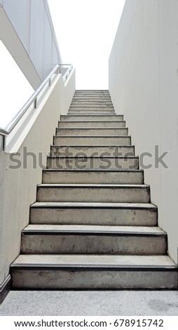 Stairs on the side of the building #678915742