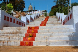 stairs or temple steps in South Indian hillstation yelagiri