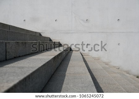stairs outdoor and concrete background - stairway, building exterior