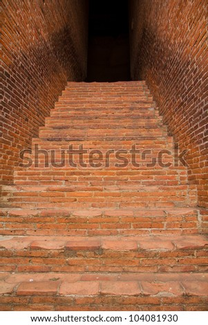 Stairs Red brick in Thailand