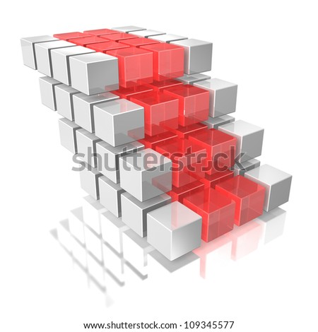Stairs represent the carrier.This is a computer generated image. - stock photo