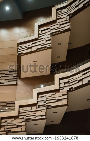 stairs, stairs in the theater