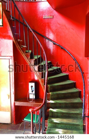Stairs to Bathroom, Pat O'Briens, New Orleans, LA