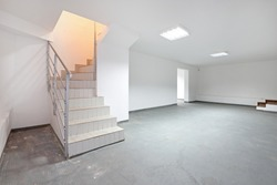 Stairs To Empty Basement Storage Room
