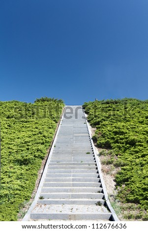 Stairs to sky during a sunny morning