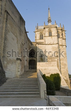 Stairs to the Amboise Castle, Loire Valley, France - stock photo