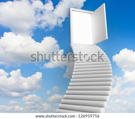 Stairs to the doors of heaven