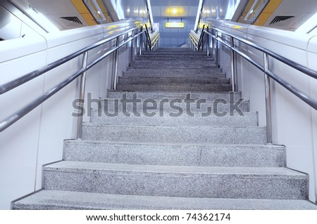 Stairs within the station