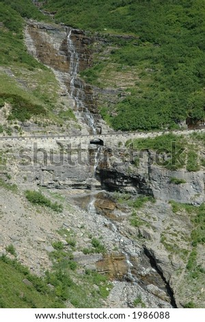 Stairstep Falls in Glacier National Park