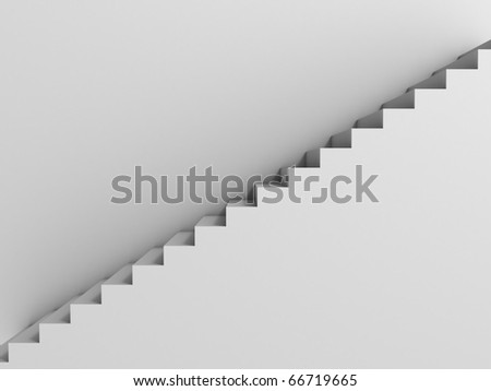 stairway as background 3d illustration