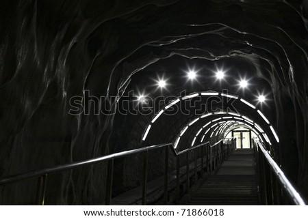stairway in a salt mine