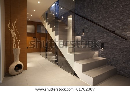 Stairway in modern apartment