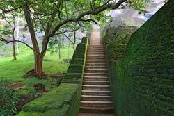 stairway in Sigiriya King Castle