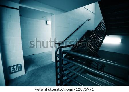 Stairway inside a modern building