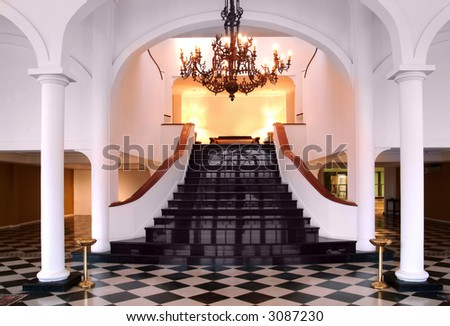 stairway on a luxury house interior