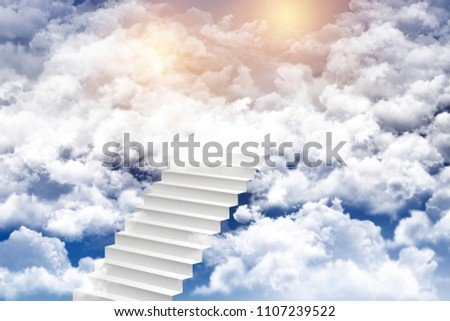 stairway to heaven,dream concept,successful concept