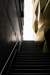Stairway to heaven, photographed in Switzerland, object; University of Lucerne