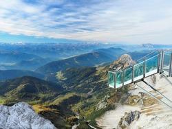 Stairway to Nothingness observation deck in Der Dachstein mountain, Austria