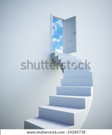 stock photo : Stairway to the sky
