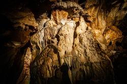 Stalactites inside a cave, Czech republic