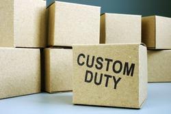 Stamp Custom duty on the box.