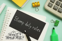Stamp duty rates is shown on the photo using the text