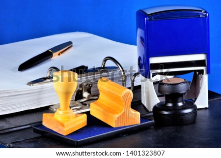 Stamp printing is a tool for authentication of documents. Stamp — relief device for obtaining the same graphic prints of the name of administrative, legal, commercial purpose.